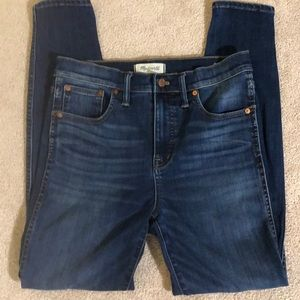 "Madewell 10"" High-rise Skinny Jeans, sz 28"